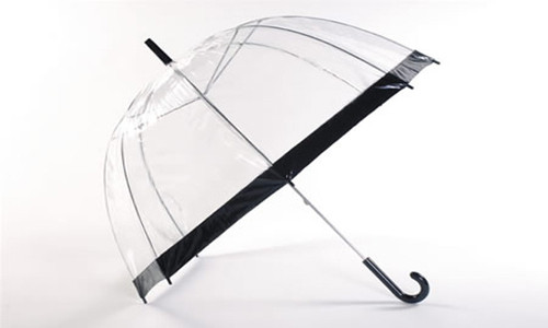 Paraguas cúpula transparente
